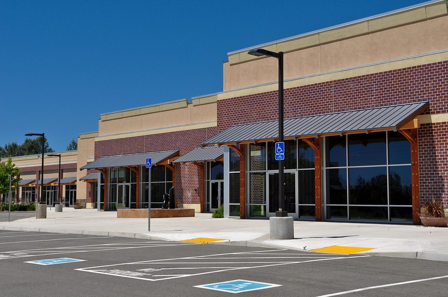 New Strip Mall Shopping Center